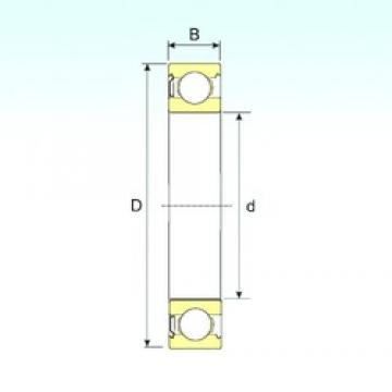 90 mm x 190 mm x 43 mm  ISB 6318-Z deep groove ball bearings