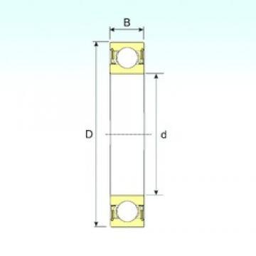 50 mm x 80 mm x 16 mm  ISB 6010-2RZ deep groove ball bearings