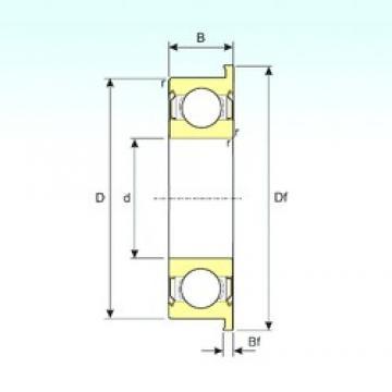 6,35 mm x 15,875 mm x 4,978 mm  ISB FR4ZZ deep groove ball bearings