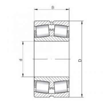 90 mm x 190 mm x 43 mm  Loyal 21318 CW33 spherical roller bearings