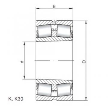 190 mm x 400 mm x 132 mm  Loyal 22338 KCW33 spherical roller bearings