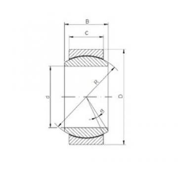 17 mm x 30 mm x 14 mm  ISO GE 017 ECR-2RS plain bearings