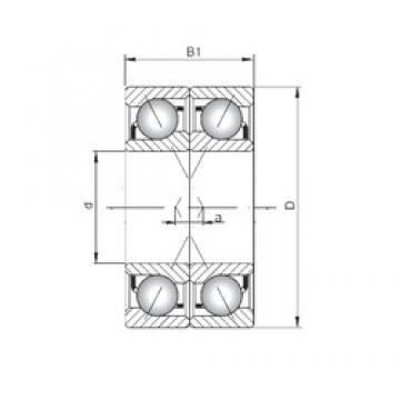 ISO 71903 CDF angular contact ball bearings