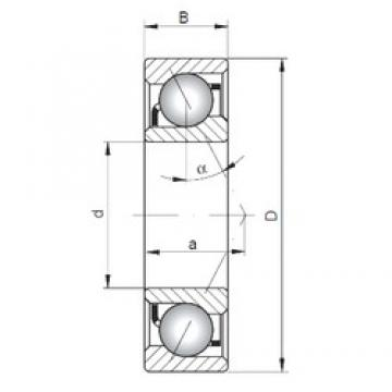 90 mm x 190 mm x 43 mm  ISO 7318 B angular contact ball bearings