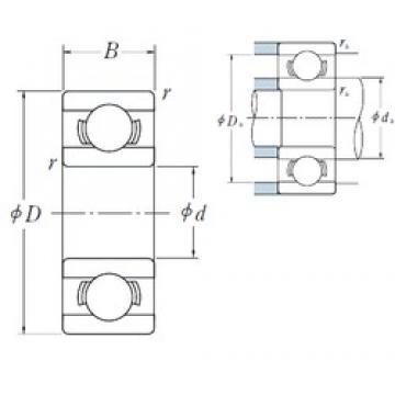6,35 mm x 15,875 mm x 4,978 mm  NSK R 4B deep groove ball bearings