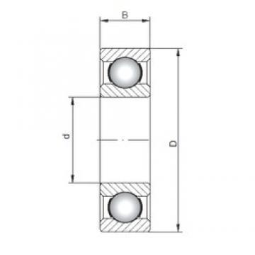 110 mm x 240 mm x 50 mm  ISO 6322 deep groove ball bearings