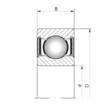 4 mm x 9 mm x 3 mm  Loyal 618/4-2RS deep groove ball bearings