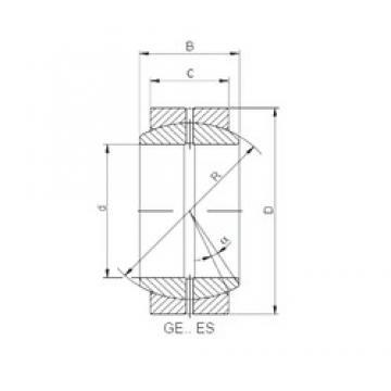 30 mm x 47 mm x 22 mm  Loyal GE 030 ES plain bearings