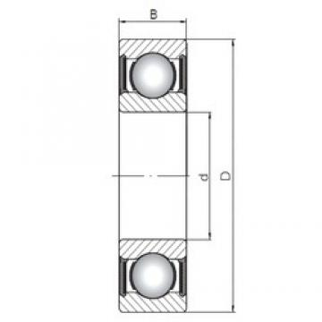 17 mm x 40 mm x 12 mm  Loyal 6203-2RS deep groove ball bearings
