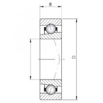 ISO 71813 C angular contact ball bearings