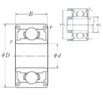6,35 mm x 15,875 mm x 4,978 mm  ISO R4B-2RS deep groove ball bearings