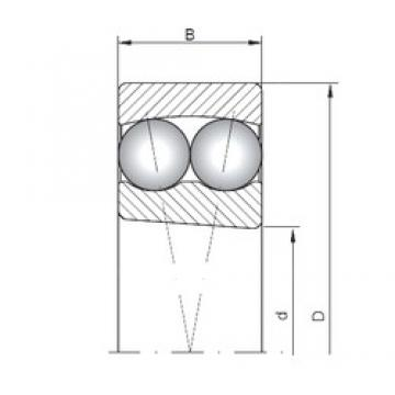 50 mm x 90 mm x 20 mm  Loyal 1210K self aligning ball bearings
