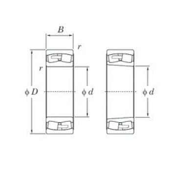 190 mm x 400 mm x 132 mm  KOYO 22338RHAK spherical roller bearings