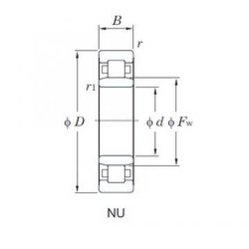 65 mm x 140 mm x 33 mm  KOYO NU313 cylindrical roller bearings