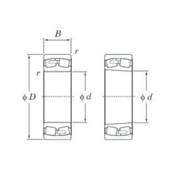 200 mm x 420 mm x 138 mm  KOYO 22340R spherical roller bearings