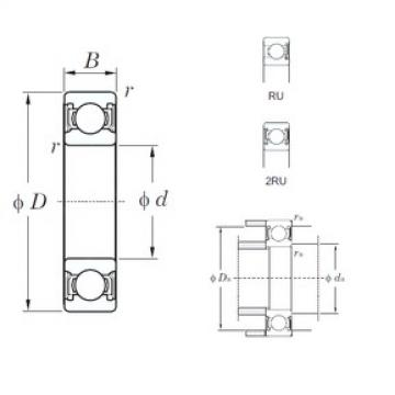 50 mm x 90 mm x 20 mm  KOYO 6210-2RU deep groove ball bearings