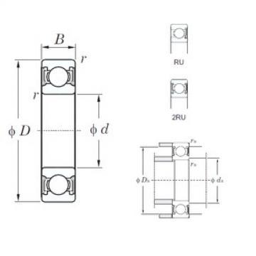 90 mm x 190 mm x 43 mm  KOYO 6318-2RU deep groove ball bearings