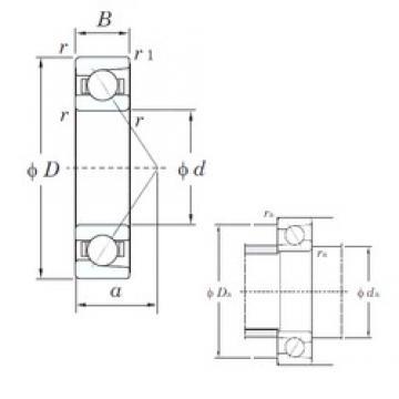 65 mm x 140 mm x 33 mm  KOYO 7313C angular contact ball bearings