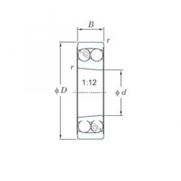 110 mm x 240 mm x 50 mm  KOYO 1322K self aligning ball bearings