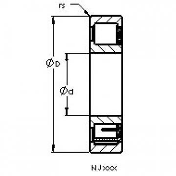 AST NJ313 EM cylindrical roller bearings