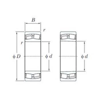 110 mm x 240 mm x 50 mm  KOYO 21322RHK spherical roller bearings