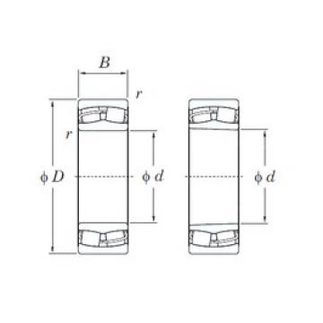 170 mm x 260 mm x 90 mm  KOYO 24034RH spherical roller bearings