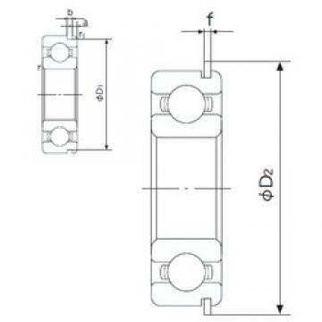 65 mm x 140 mm x 33 mm  NACHI 6313NR deep groove ball bearings