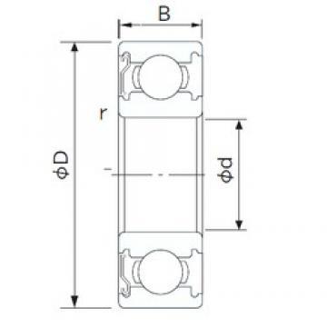 90 mm x 190 mm x 43 mm  NACHI 6318Z deep groove ball bearings