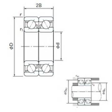 90 mm x 190 mm x 43 mm  NACHI 7318DB angular contact ball bearings