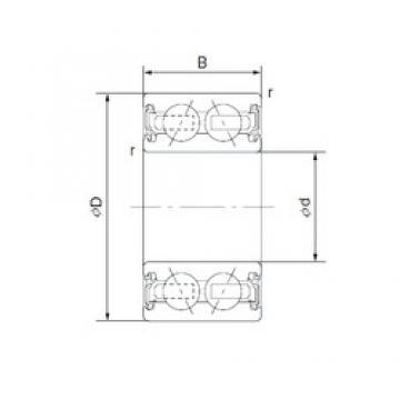 30 mm x 47 mm x 22 mm  NACHI 30BG04S13-2DST2 angular contact ball bearings