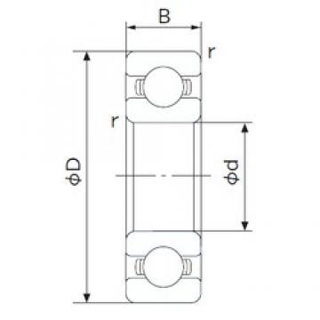 50 mm x 80 mm x 16 mm  NACHI 6010 deep groove ball bearings