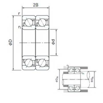 90 mm x 190 mm x 43 mm  NACHI 7318DT angular contact ball bearings