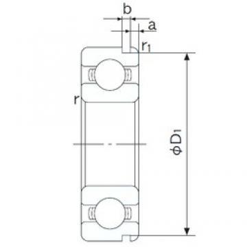 65 mm x 140 mm x 33 mm  NACHI 6313N deep groove ball bearings