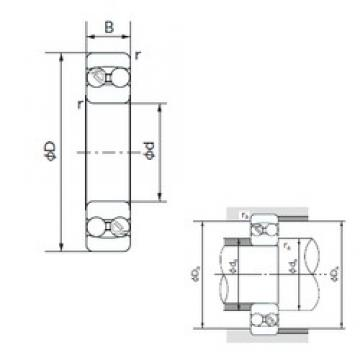 65 mm x 140 mm x 33 mm  NACHI 1313 self aligning ball bearings