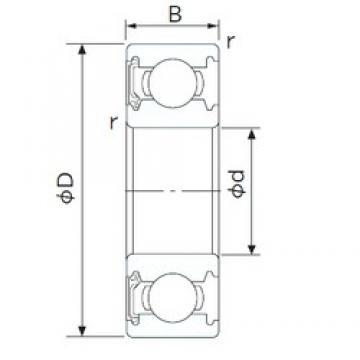 65 mm x 140 mm x 33 mm  NACHI 6313NSE deep groove ball bearings