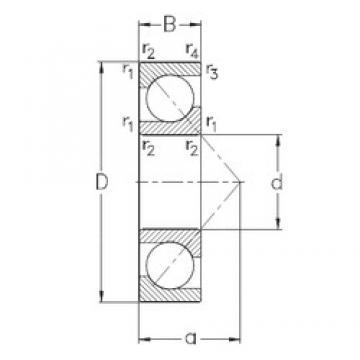 110 mm x 240 mm x 50 mm  NKE 7322-BECB-MP angular contact ball bearings