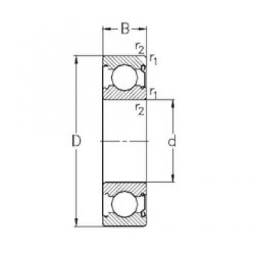 50 mm x 90 mm x 20 mm  NKE 6210-Z deep groove ball bearings