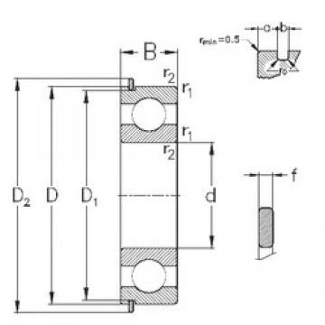 50 mm x 90 mm x 20 mm  NKE 6210-NR deep groove ball bearings
