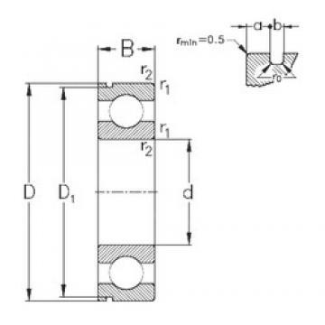 50 mm x 90 mm x 20 mm  NKE 6210-N deep groove ball bearings
