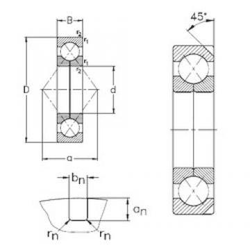 110 mm x 240 mm x 50 mm  NKE QJ322-N2-MPA angular contact ball bearings