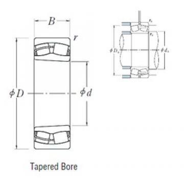 180 mm x 280 mm x 74 mm  NSK 23036CDKE4 spherical roller bearings