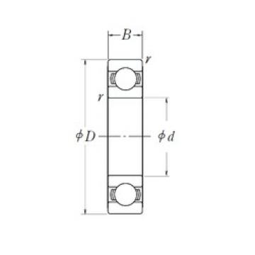 50 mm x 80 mm x 16 mm  NSK 6010L11 deep groove ball bearings