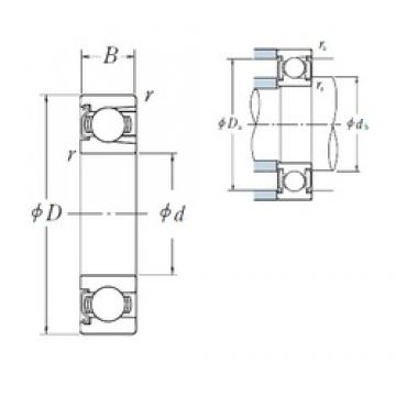 50 mm x 90 mm x 20 mm  NSK BL 210 Z deep groove ball bearings