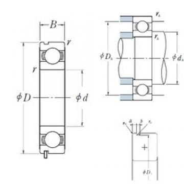 90 mm x 190 mm x 43 mm  NSK 6318N deep groove ball bearings