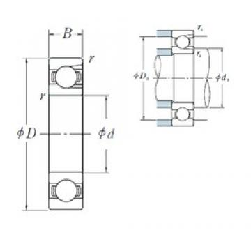 90 mm x 190 mm x 43 mm  NSK BL 318 deep groove ball bearings