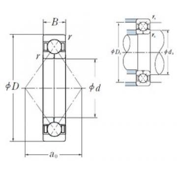 110 mm x 240 mm x 50 mm  NSK QJ 322 angular contact ball bearings