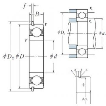 65 mm x 140 mm x 33 mm  NSK 6313NR deep groove ball bearings