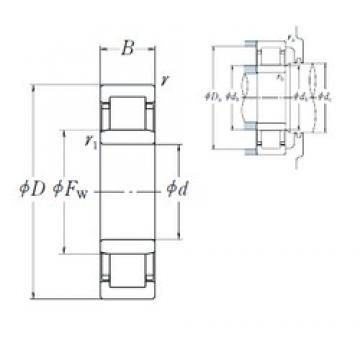 110 mm x 240 mm x 50 mm  NSK NU 322 EM cylindrical roller bearings