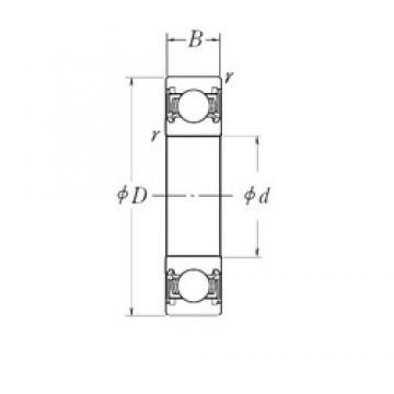 50 mm x 80 mm x 16 mm  NSK 6010DDU deep groove ball bearings