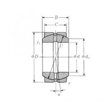 30 mm x 47 mm x 22 mm  NSK 30FSF47 plain bearings